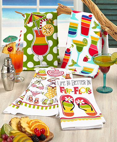 Sets of 2 Themed Kitchen Towels
