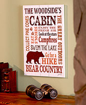 Personalized Family Getaway Art