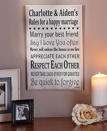 Personalized Marriage Rules Art