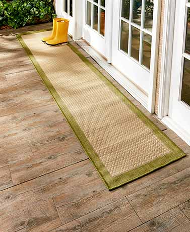 IndoorOutdoor Border Runner Rugs