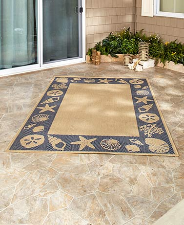Seashells IndoorOutdoor Rug Collection