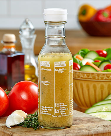 Glass Salad Dressing Maker