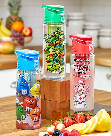 Licensed Water Bottle with Infuser