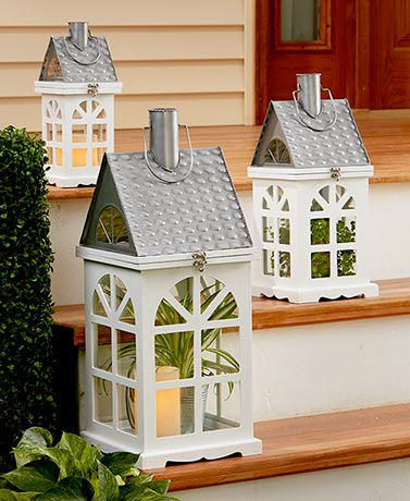 Wooden House Lanterns