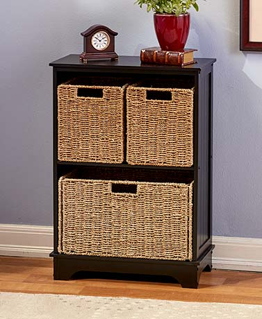 Traditional Shelving Cabinets or Baskets