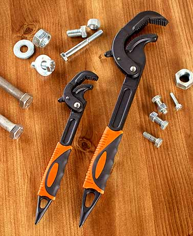 Set of 2 Professional Universal Grip Wrenches