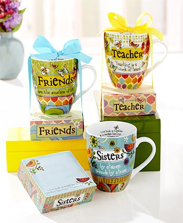 Inspirational Notepad and Mug Gift Sets