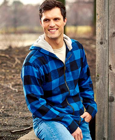 Men's Thermal Trim Flannel Hoodies