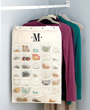Double-Sided Monogram Jewelry Organizers