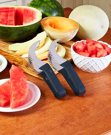 Set of 2 Watermelon Slicer, Corer and Server