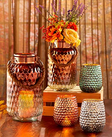 Glistening Glass Candleholders