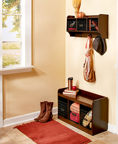 Entryway Furniture or Wire Baskets