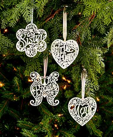 Delicate Words Ornaments