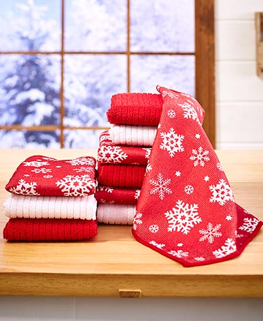 10-Pc. Holiday Kitchen Towel Sets