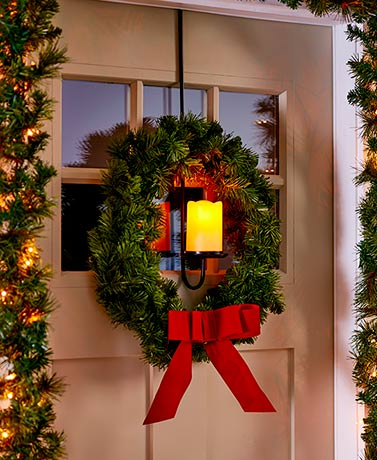 Over-the-Door LED Wreath Hanger with Timer
