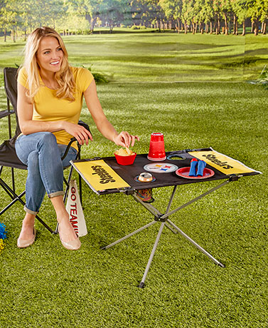 NFL End Zone Folding Tables