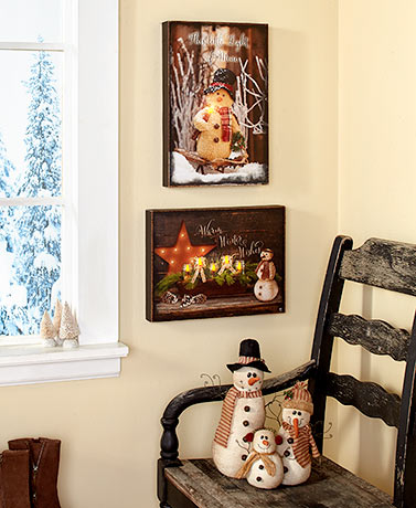 Country Snowman Decor
