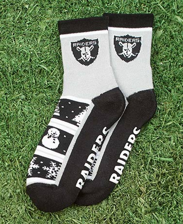NFL Holiday Slipper Socks with Grippers