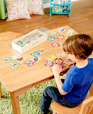 Melissa & Doug® Wooden Letter or Number Puzzles