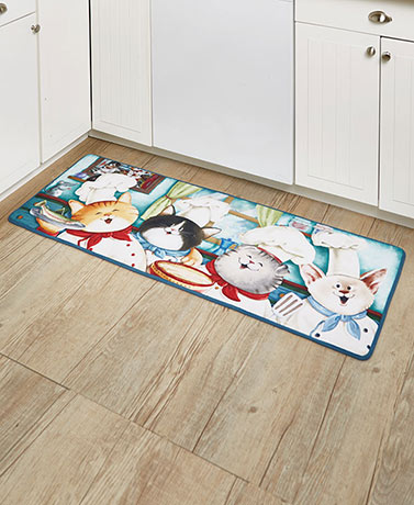Furry Friends Chef Cat Rug