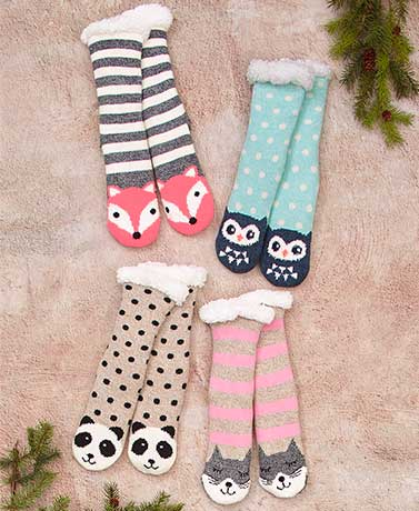 Cozy Plush-Lined Slipper Socks