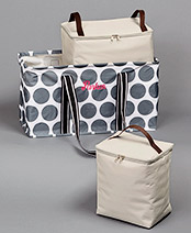 Personalized Tote with Removable Coolers