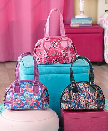 Licensed Girls' Glitter Satchel Handbags