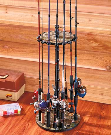 Realtree® 16-Rod Fishing Rack
