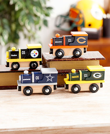 NFL Wooden Train Engines