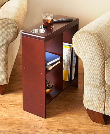 Slim End Tables with Drink Holders