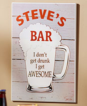Personalized Bar Wall Plaques