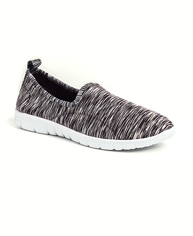 Black Slip-On Memory Foam Sneakers