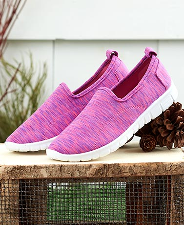 Pink Slip-On Memory Foam Sneakers