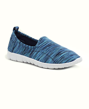 Blue Slip-On Memory Foam Sneakers