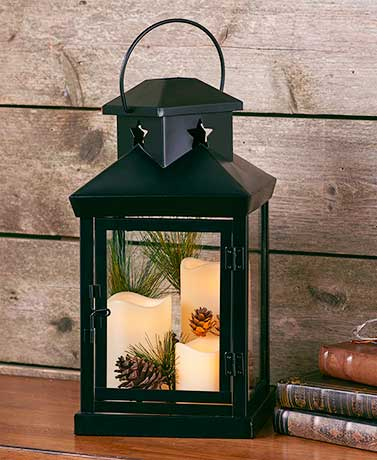 Metal Triple-LED Candle Lantern
