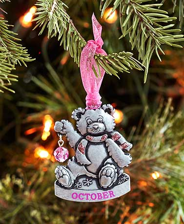 Birthstone Bear Ornaments