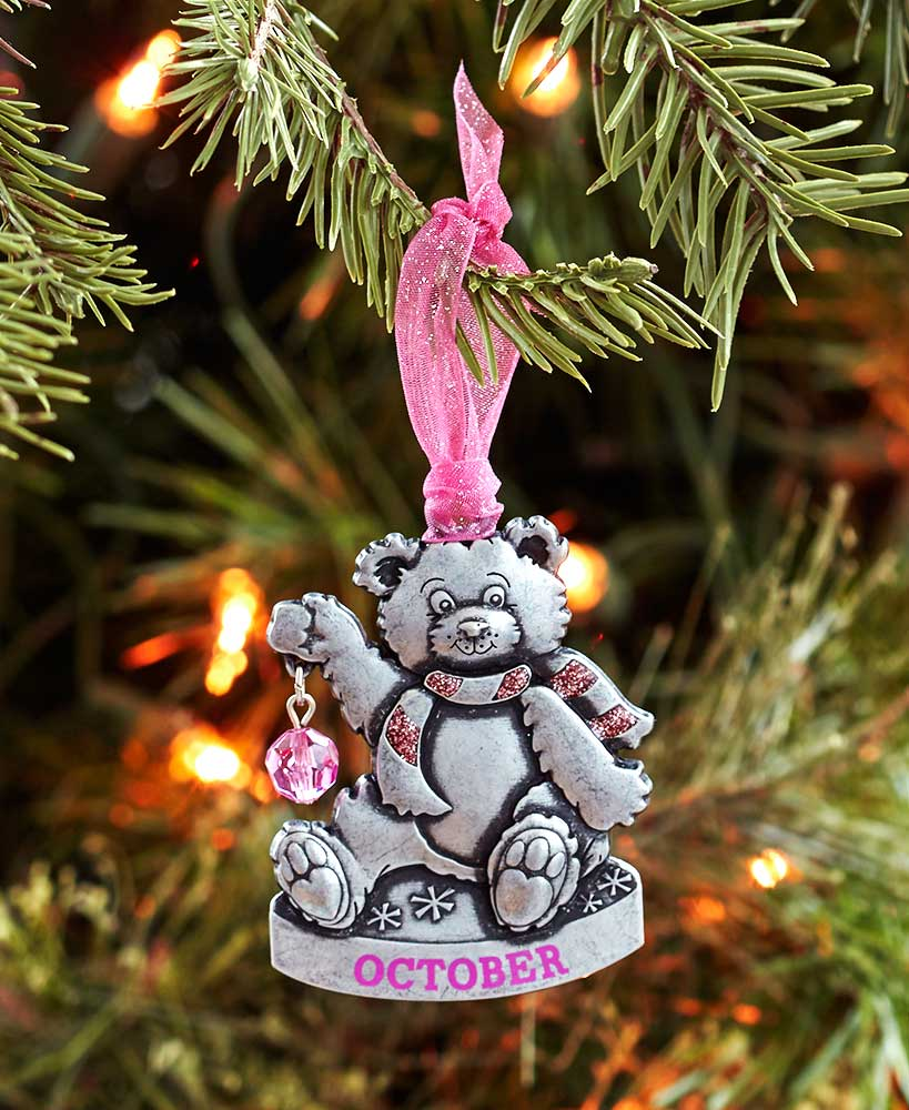 May The Lakeside Collection Birthstone Bear Ornaments