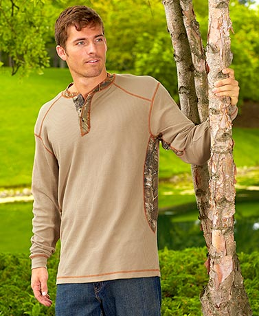 Thermal Realtree® Henley Shirts