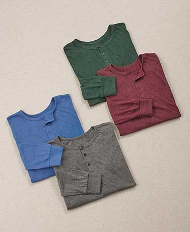Men's Sets of 2 Long-Sleeved Knit Shirts