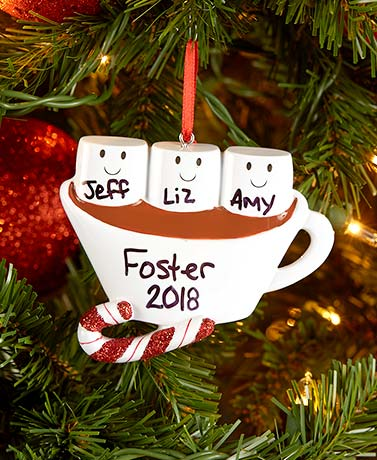 Hot Chocolate Family Ornaments