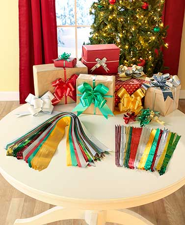 100-Pc. Holiday Instant Gift Bow Set