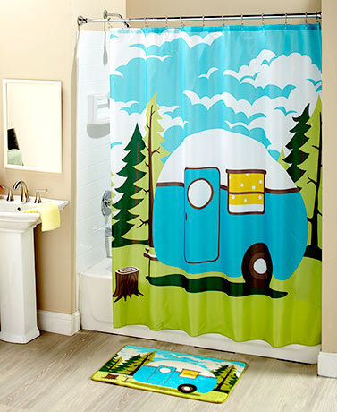 Retro Camping Bathroom Collection