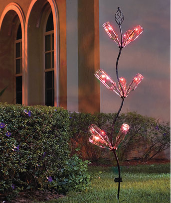 Solar Color-Changing Bottle Tree