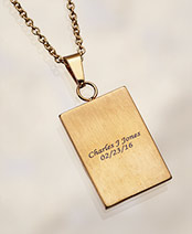 Personalized Square Cross Necklaces