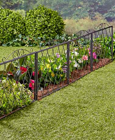 Upcycling ideas for the garden the lakeside collection scrolled metal garden fences workwithnaturefo