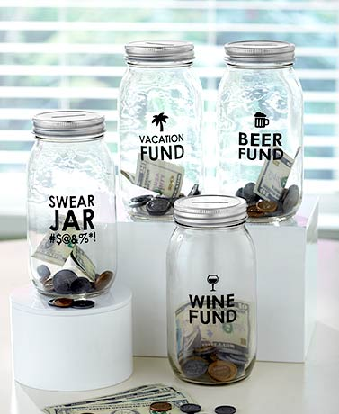 Glass Money-Saving Jars