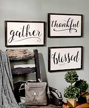 Framed Word Signs