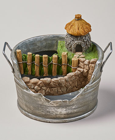 Whimsical Village Planters