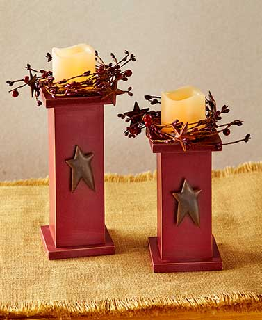 Sets of 2 Country LED Candles