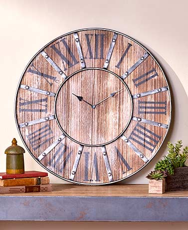 Rustic Farmhouse Clock